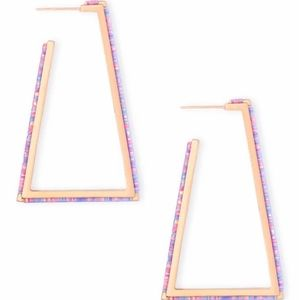 Kendra Scott I Easton Rose Gold Opal Earrings